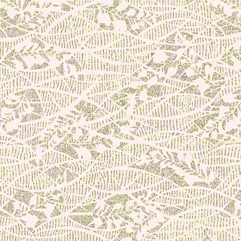 Soft Fern - creamy pale pink lace, gray moss, lavender. Weddings. fabric by materialsgirl on Spoonflower - custom fabric