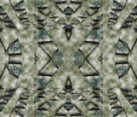 Tire Tracks through Dirty Snow fabric by anniedeb on Spoonflower - custom fabric