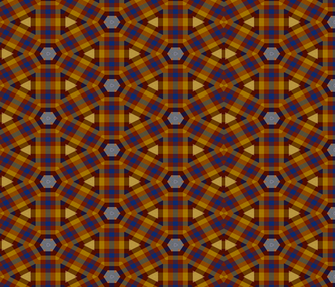 Plaid in a Circle fabric by anniedeb on Spoonflower - custom fabric