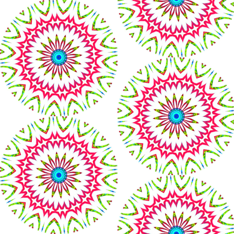 Modern Snowflakes 3 fabric by dovetail_designs on Spoonflower - custom fabric
