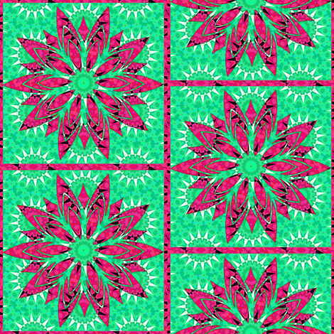 Modern Snowflakes 4 fabric by dovetail_designs on Spoonflower - custom fabric
