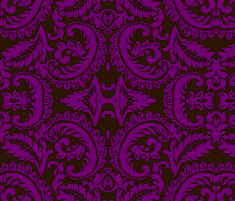Damask Fuschia fabric by nascustomlife on Spoonflower - custom fabric
