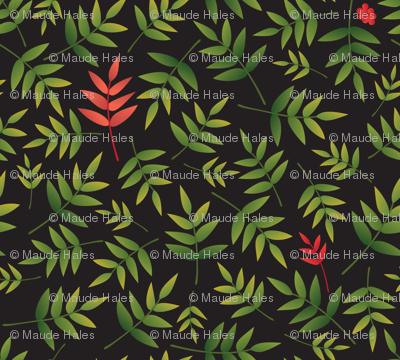 Nandina Leaves-black