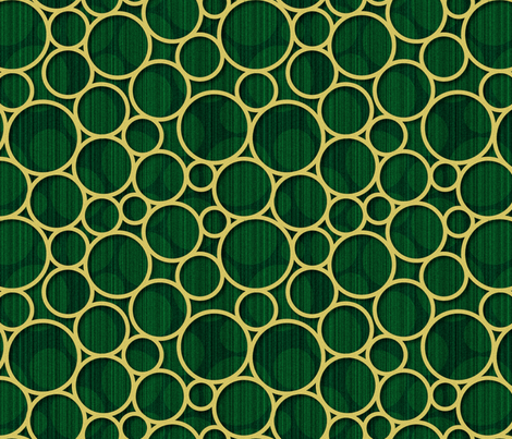 green spots with gold circles fabric by melhales on Spoonflower - custom fabric