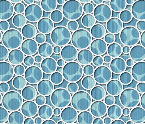 blue spots with white circles fabric by melhales on Spoonflower - custom fabric