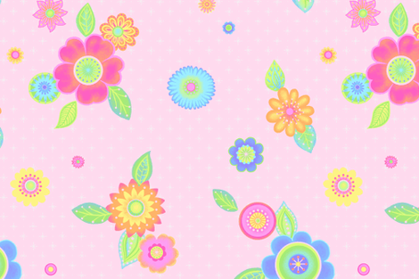 beebop pink fabric by natalie_engdahl on Spoonflower - custom fabric