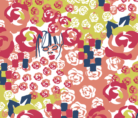 Floral In Stone fabric by genebrown on Spoonflower - custom fabric