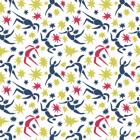 Dancing With Scissors fabric by vo_aka_virginiao on Spoonflower - custom fabric
