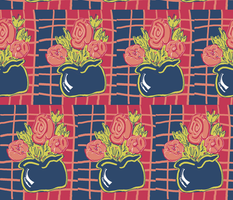 The Blue Vase fabric by dogdaze_ on Spoonflower - custom fabric