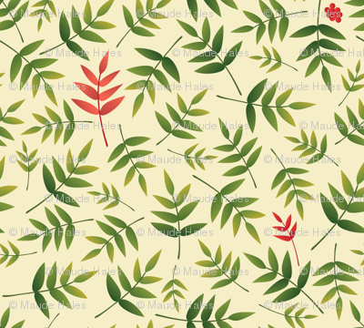 Nandina leaves-Cream