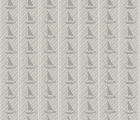 Winter Beach Collection - Sailboats  fabric by diane555 on Spoonflower - custom fabric
