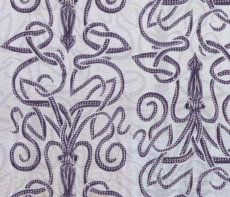 Kraken--Swirling Seas fabric by wren_leyland on Spoonflower - custom fabric