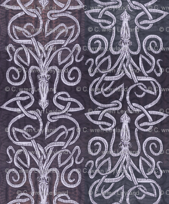 Deep Purple Squid - Inked