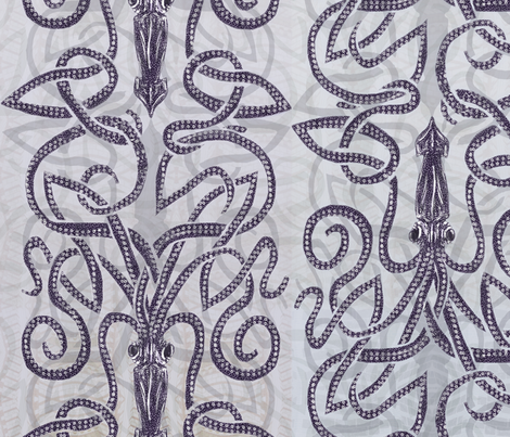 kraken-squid-shadows fabric by wren_leyland on Spoonflower - custom fabric