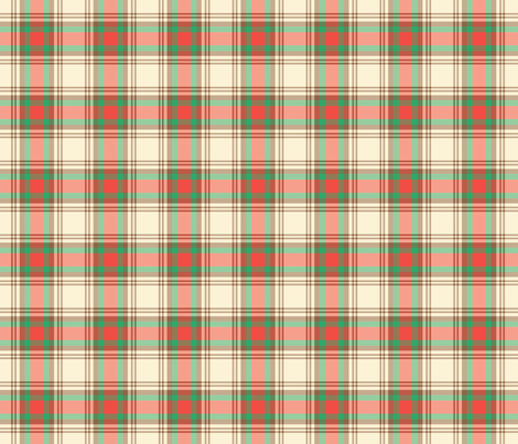 holiday tartan fabric by polyesterdress on Spoonflower - custom fabric