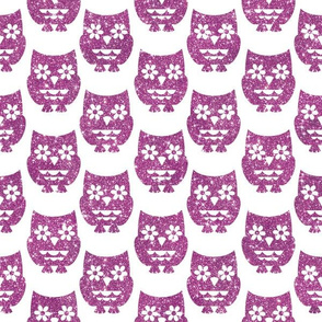 Sparkle Owls- Lilac