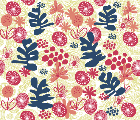 TRIBUTE TO MATISSE fabric by deeniespoonflower on Spoonflower - custom fabric