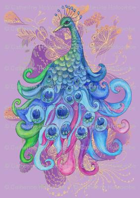 Lavender Peacock