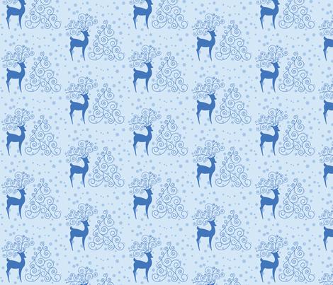 Swirly Reindeer  fabric by studiofibonacci on Spoonflower - custom fabric