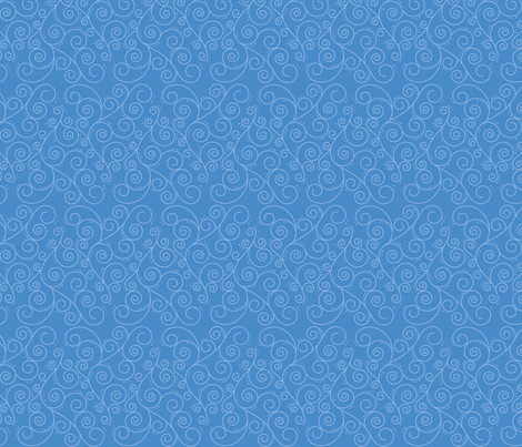Swirly Curls fabric by studiofibonacci on Spoonflower - custom fabric