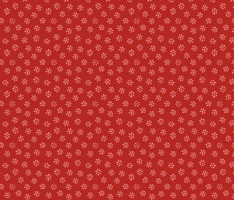 Flower Ditsy - red fabric by holly_helgeson on Spoonflower - custom fabric