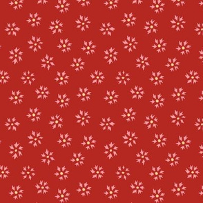 Flower Ditsy - red