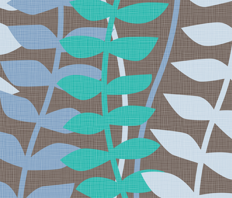 matisse inspired - blues & turquoise colorway fabric by ravynka on Spoonflower - custom fabric