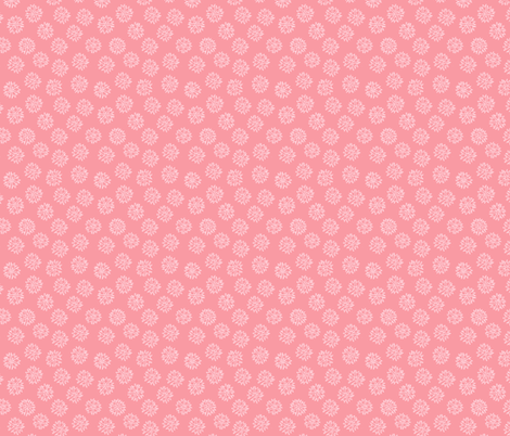 Pink Flower Ditsy fabric by holly_helgeson on Spoonflower - custom fabric