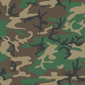 ERDL Woodland Brown dominant color camo