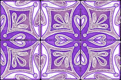 Tile Heart Purple Glow
