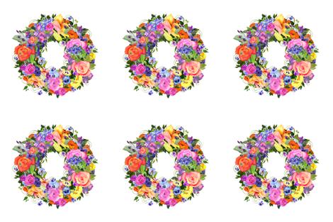Watercolor Flower Wreath fabric by golders on Spoonflower - custom fabric