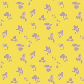 Dancing floral – yellow and gray