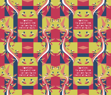 Black Robin - Matisse Inspired (restricted palette) fabric by madex on Spoonflower - custom fabric