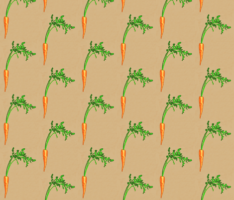 Eat Your Carrots! fabric by robin_rice on Spoonflower - custom fabric