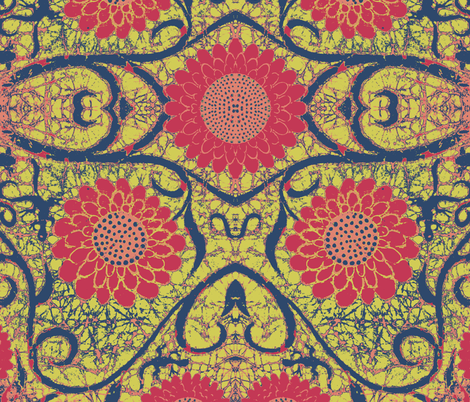 Kate's color switcheroo 2 fabric by hooeybatiks on Spoonflower - custom fabric