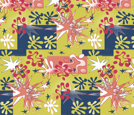 Matisse Inspired fabric fabric by waiomaotiki on Spoonflower - custom fabric
