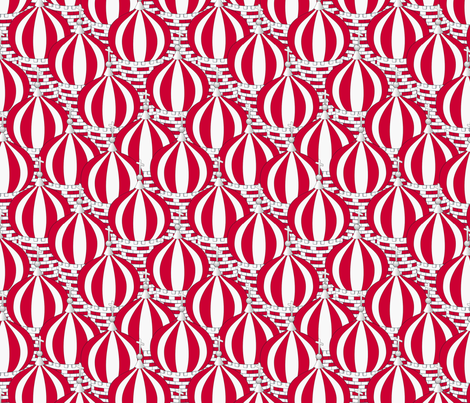 Peppermint Towers fabric by glimmericks on Spoonflower - custom fabric