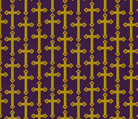 cross_ornament fabric by glimmericks on Spoonflower - custom fabric