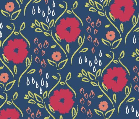 Fire and Rain fabric by dkaiser on Spoonflower - custom fabric