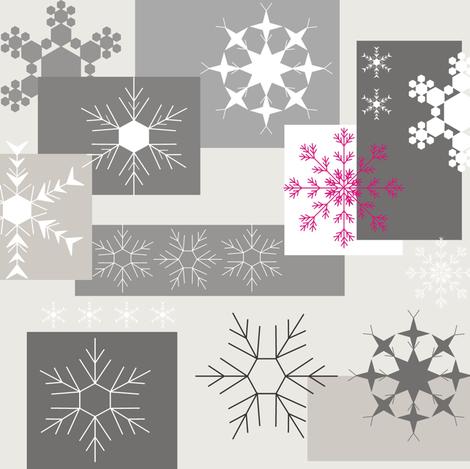 Snowflake Grey fabric by smuk on Spoonflower - custom fabric