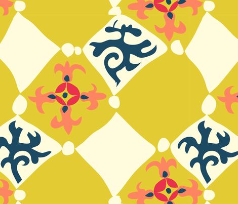 Pazyryk felt for Henri fabric by bee&lotus on Spoonflower - custom fabric