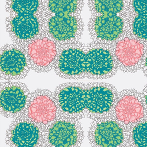 pink/green flower repeat