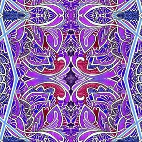 Purple Pazel vertical zig zag stripe