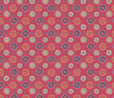 Matisse-colours-on-red fabric by kirsten_miller on Spoonflower - custom fabric
