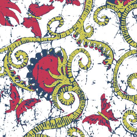 Teralin-white fabric by hooeybatiks on Spoonflower - custom fabric