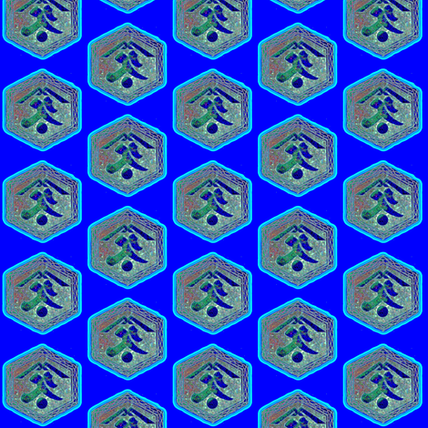 Kanji: vibrant purple/blue and multi-colored fabric by materialsgirl on Spoonflower - custom fabric