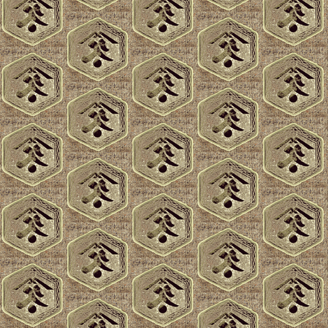 Kanji -  taupe,brown, charcoal, grey fabric by materialsgirl on Spoonflower - custom fabric