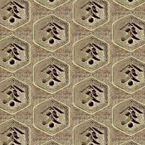 Kanji -  taupe,brown, charcoal, grey