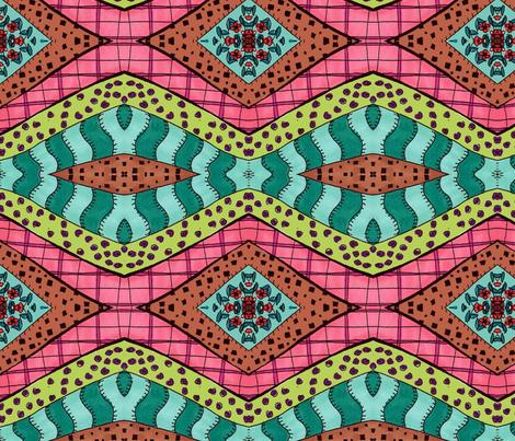Green Zebra fabric by janaaberry on Spoonflower - custom fabric