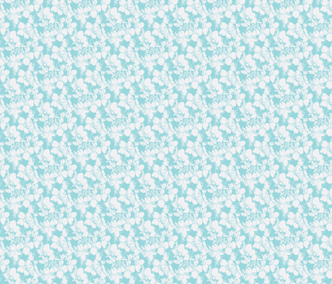 pale blue violets print fabric by penelopeventura on Spoonflower - custom fabric